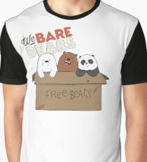 We Bare Bears Cartoon - Baby Bear Cubs Box - Grizz, Panda, Ice Bear - With Logo Graphic T-Shirt