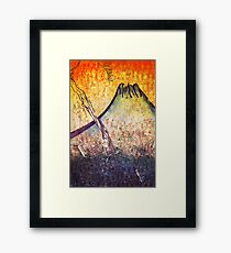 good morning  Mountain Framed Print