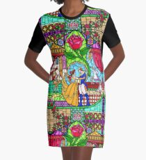 Patterns of the Stained Glass Window Graphic T-Shirt Dress