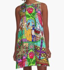 Patterns of the Stained Glass Window A-Line Dress