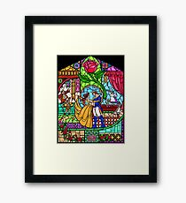 Patterns of the Stained Glass Window Framed Print