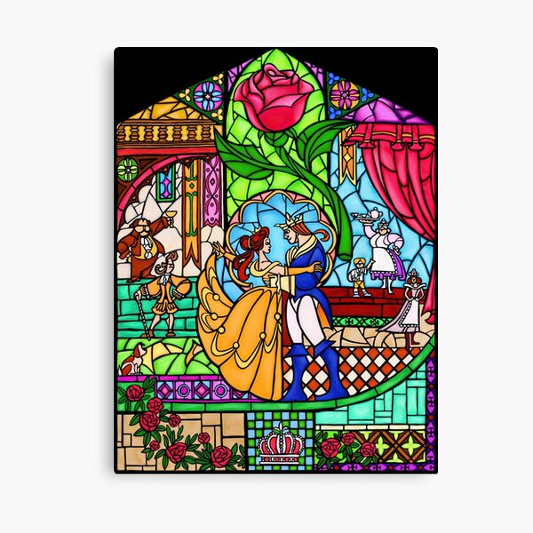 Patterns of the Stained Glass Window Canvas Print