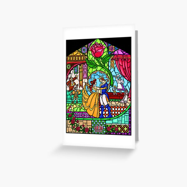 Patterns of the Stained Glass Window Greeting Card