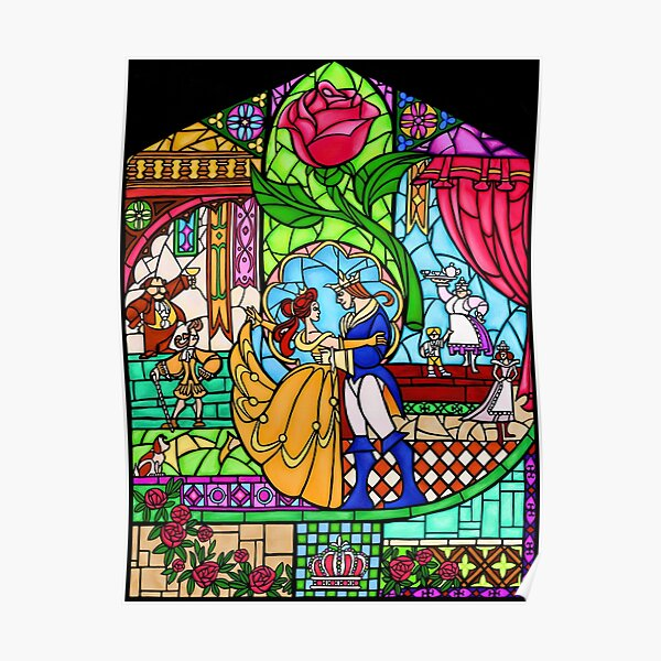 Patterns of the Stained Glass Window Poster
