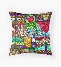 Patterns of the Stained Glass Window Throw Pillow