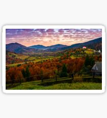 exquisite autumn sunrise in mountainous countryside Sticker