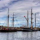 Tall Ships at Anchor by Tom Gomez
