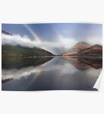 Mountains,mist and rainbows. Loch Duich. North West Highlands. Scotland. Poster
