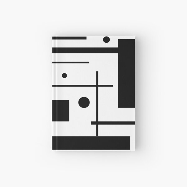 Black And White Abstract Hardcover Journal