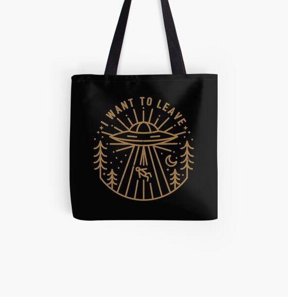 I Want To Leave All Over Print Tote Bag