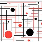 Red And Black Abstract by KirtTisdale