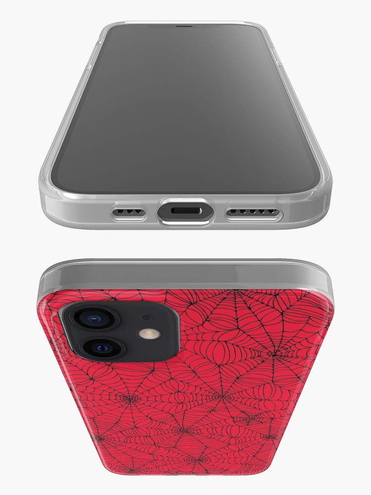 Alternate view of Spider Web pattern - black on Red - Spiderweb pattern by Cecca Designs iPhone Case & Cover