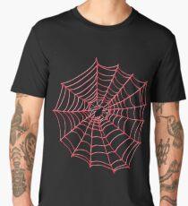 Spider Web pattern - black on Red - Spiderweb pattern by Cecca Designs Men's Premium T-Shirt