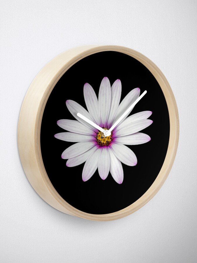 Alternate view of African Daisy Clock