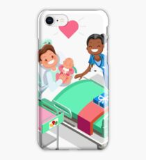 Nurse with Baby Doctor or Nurse Patient Isometric People iPhone Case/Skin