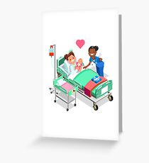 Nurse with Baby Doctor or Nurse Patient Isometric People Greeting Card
