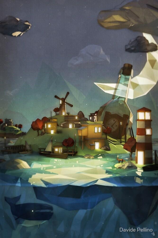 Fantasy Island at Nightime by Davide Pellino