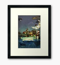 Fantasy Island at Nightime Framed Print