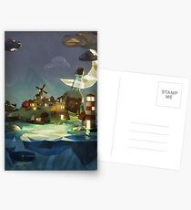 Fantasy Island at Nightime Postcards