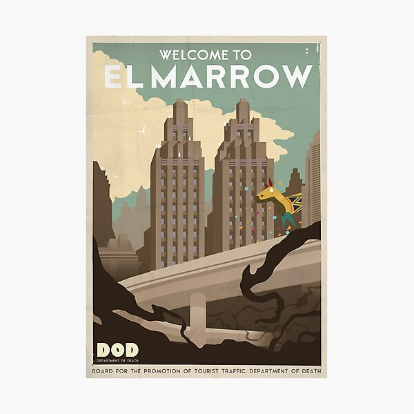 Grim Fandango Travel Posters Photographic Print