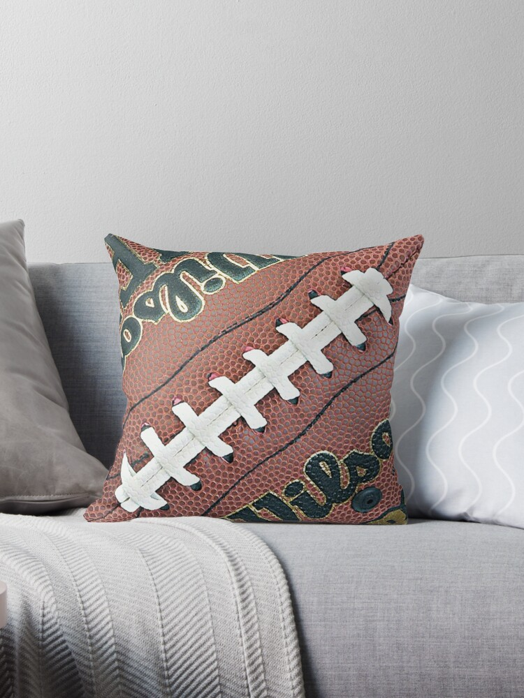 MAN CAVE THROW PILLOW SERIES  - FOOTBALL by The Beard