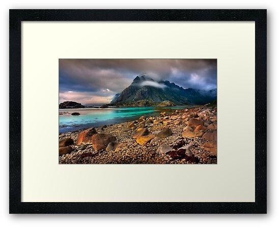 Mountain Scene, Henningsvaer, Lofoten Islands. Norway. by PhotosEcosse