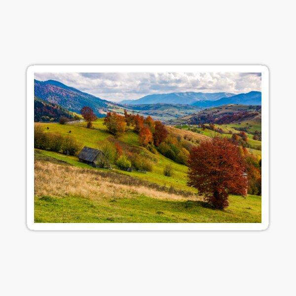 stunning rural landscape in mountains Sticker