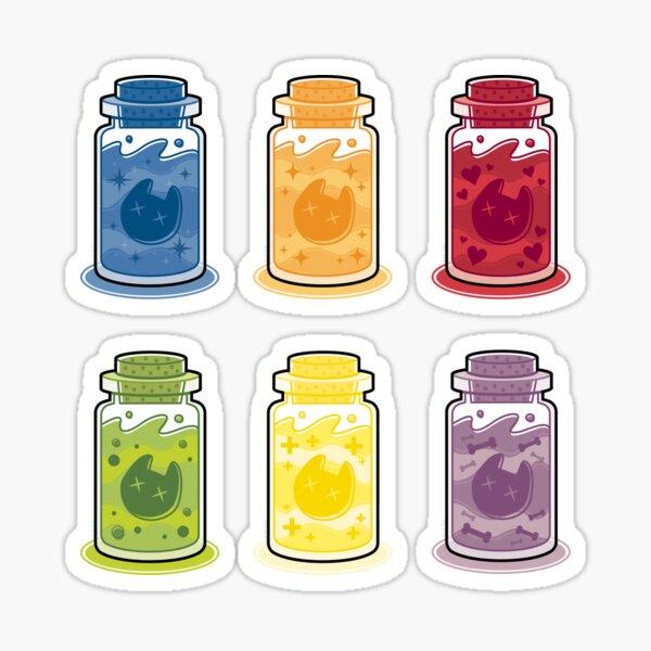Dead Cat Head Bottles Sticker