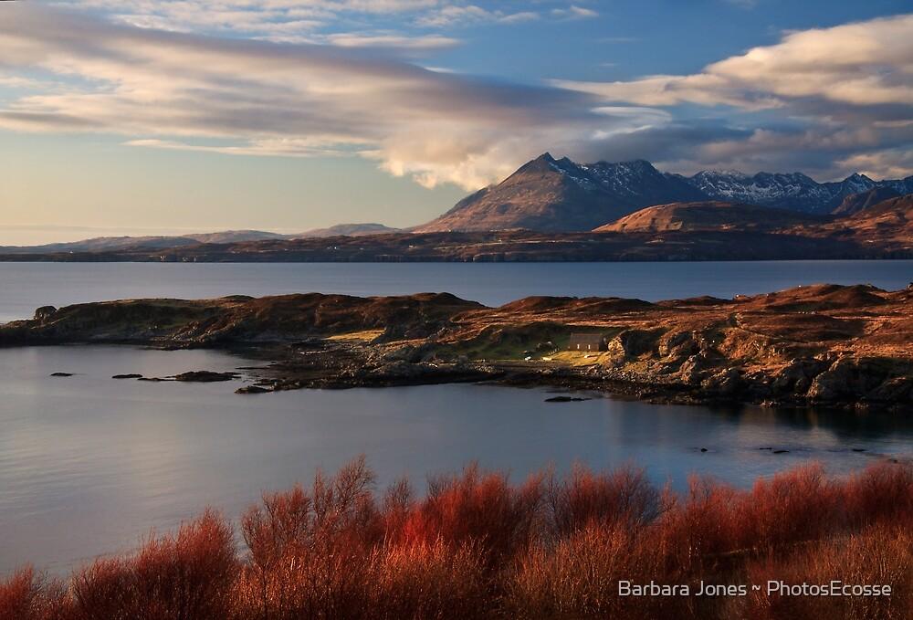Cuillin Mountains from Tarskavaig, Isle of Skye, Scotland. by Barbara  Jones ~ PhotosEcosse