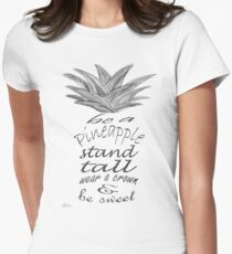 Be a Pineapple Women's Fitted T-Shirt