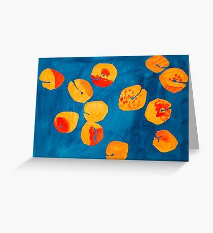 Orange apricots Greeting Card
