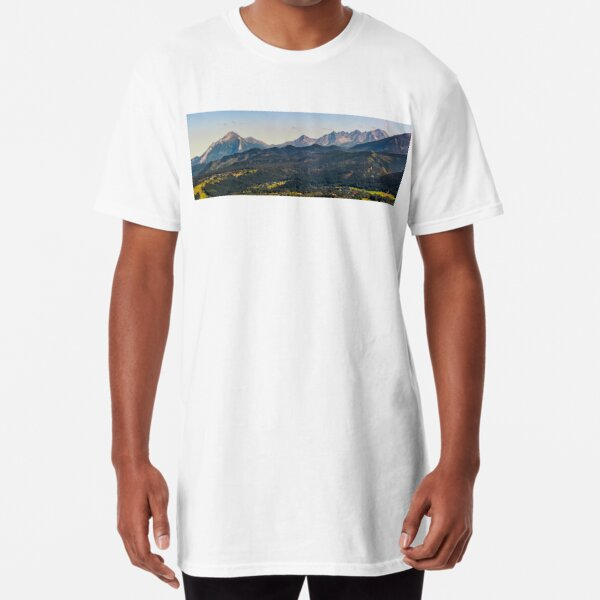 High Tatra mountain ridge evening in Poland Long T-Shirt