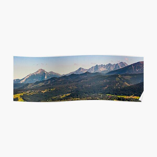 High Tatra mountain ridge evening in Poland Poster