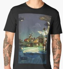 Fantasy Island at Nightime Men's Premium T-Shirt