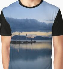 San Feliciano after sunset, Lago Trasimeno, Umbria, Italy Graphic T-Shirt
