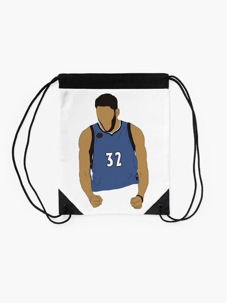 Karl Anthony Towns Excited Drawstring Bag By Rattraptees Redbubble