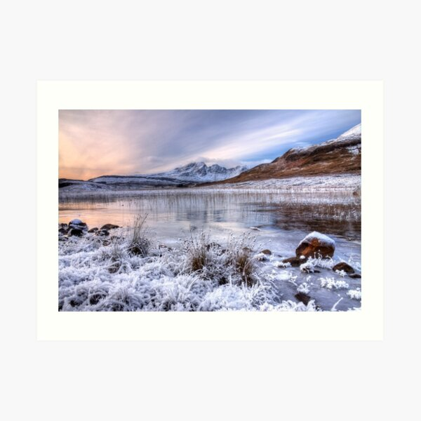 Blaven in Winter Light Isle of Skye Scotland. Art Print