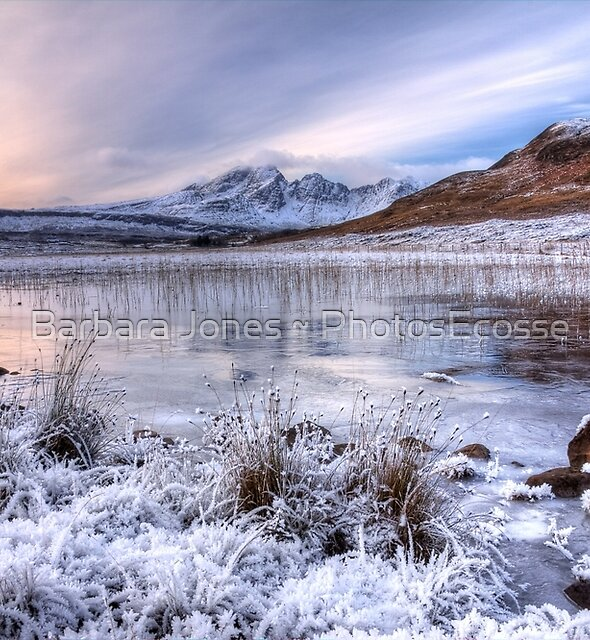 Blaven in Winter Light, Isle of Skye. Scotland. by Barbara  Jones ~ PhotosEcosse