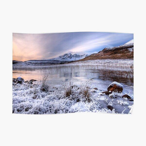 Blaven in Winter Light Isle of Skye Scotland. Poster