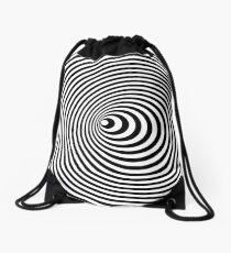 Vortex, optische Täuschung schwarz und weiß Turnbeutel