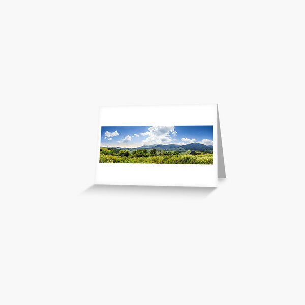 meadow with flowers in mountains Greeting Card