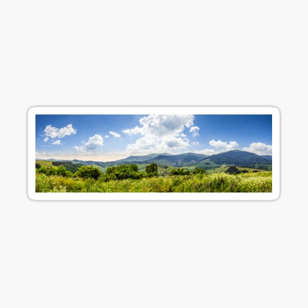 meadow with flowers in mountains Sticker