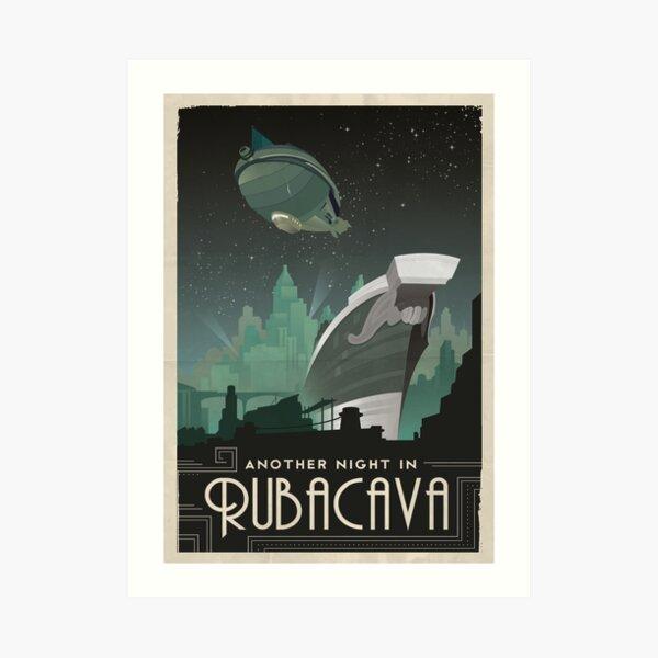 Grim Fandango Travel Posters - Rubacava Art Print