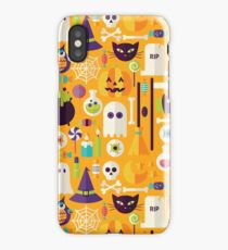 Halloween Workshop on Orange iPhone Case/Skin