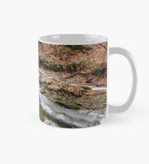 frozen river in forest Mug