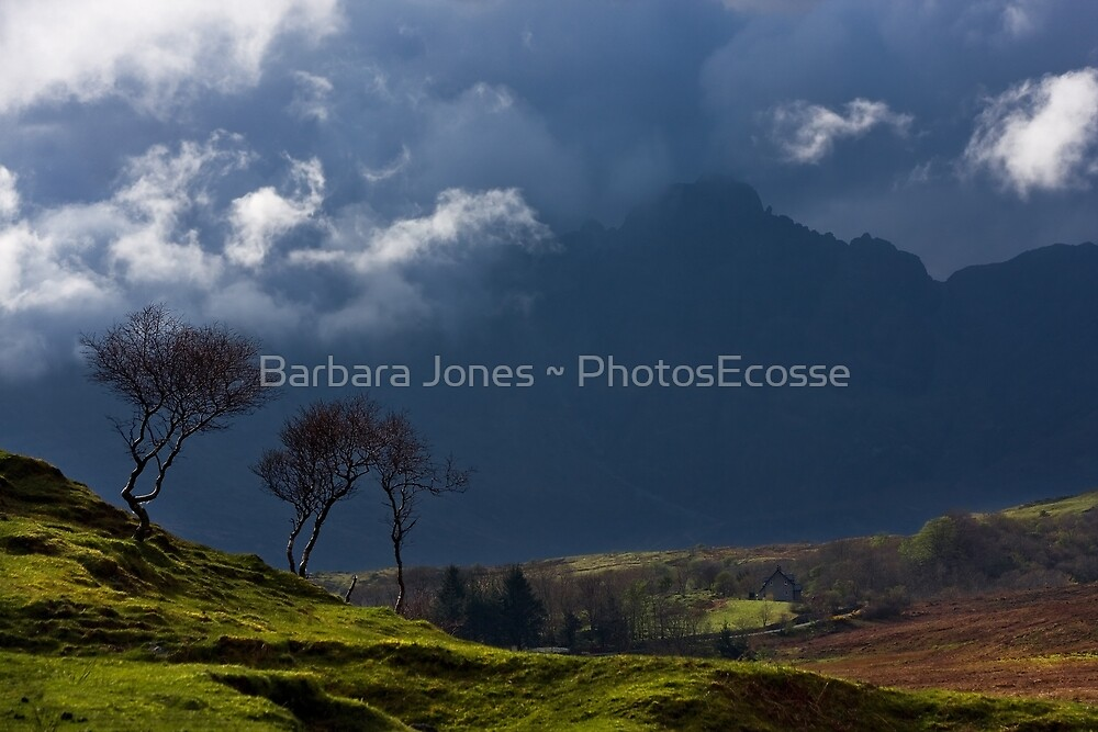 Storm brewing on the heights of Blaven, Isle of Skye. Scotland. by PhotosEcosse