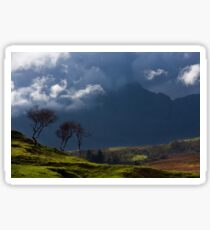Storm brewing on the heights of Blaven, Isle of Skye. Scotland. Sticker