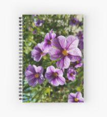 Purple Spring Flowers Spiral Notebook