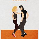 Grease Alternative Minimalist Movie Poster by A Deniz Akerman