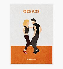Grease Alternative Minimalist Movie Poster Photographic Print